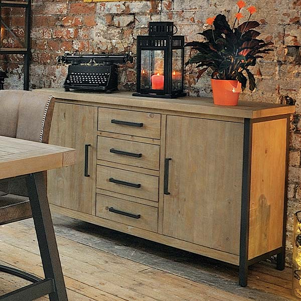 Lansdowne Industrial Reclaimed Wood Sideboard