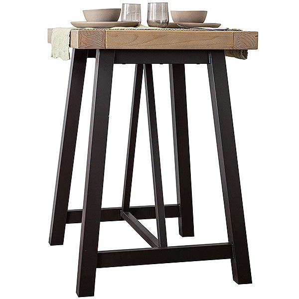 Lansdowne Industrial reclaimed wood bar table