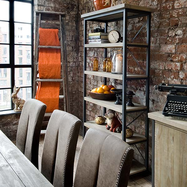Lowry Industrial Reclaimed Wood Bookcase