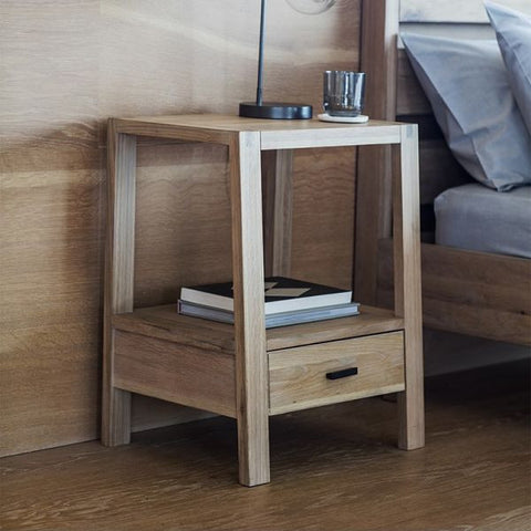Hudson Living Kielder Oak Bedside Table