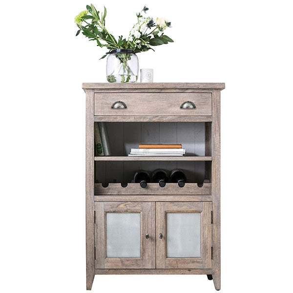 Kensal Wooden Wine Rack with Sideboard