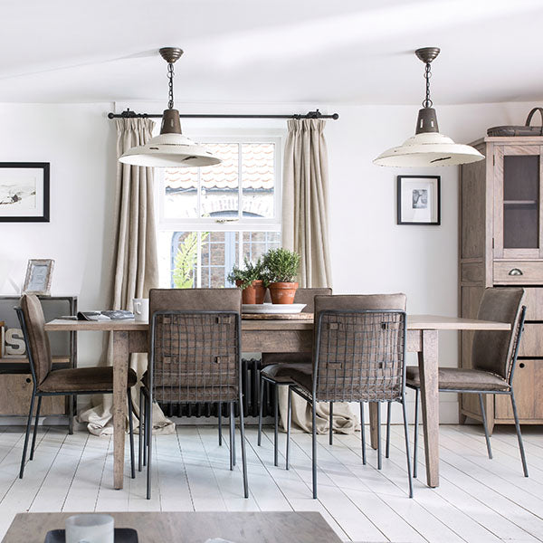 Kensal Wooden Dining Table and Faux Leather Dining Chairs