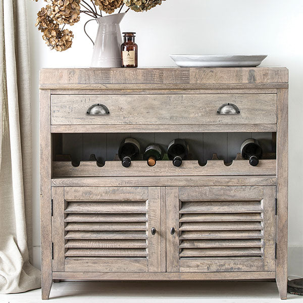 Kensal Wooden Wine Rack and Sideboard