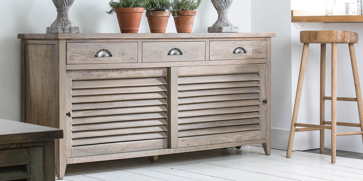 Kensal Large Wooden Sideboard in Room