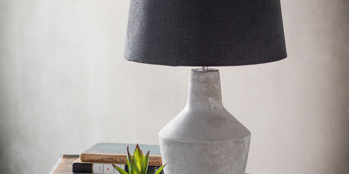 Kiel Table Lamp with Dark Shade