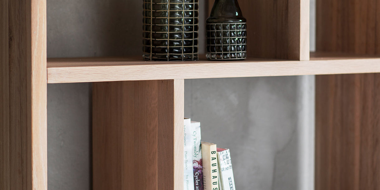 Hudson Living Kielder Oak Bookcase Closeup