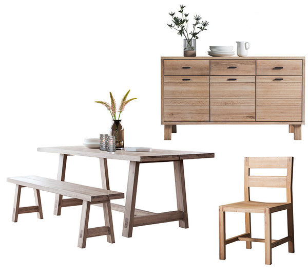 Kielder Oak Dining Set and Sideboard