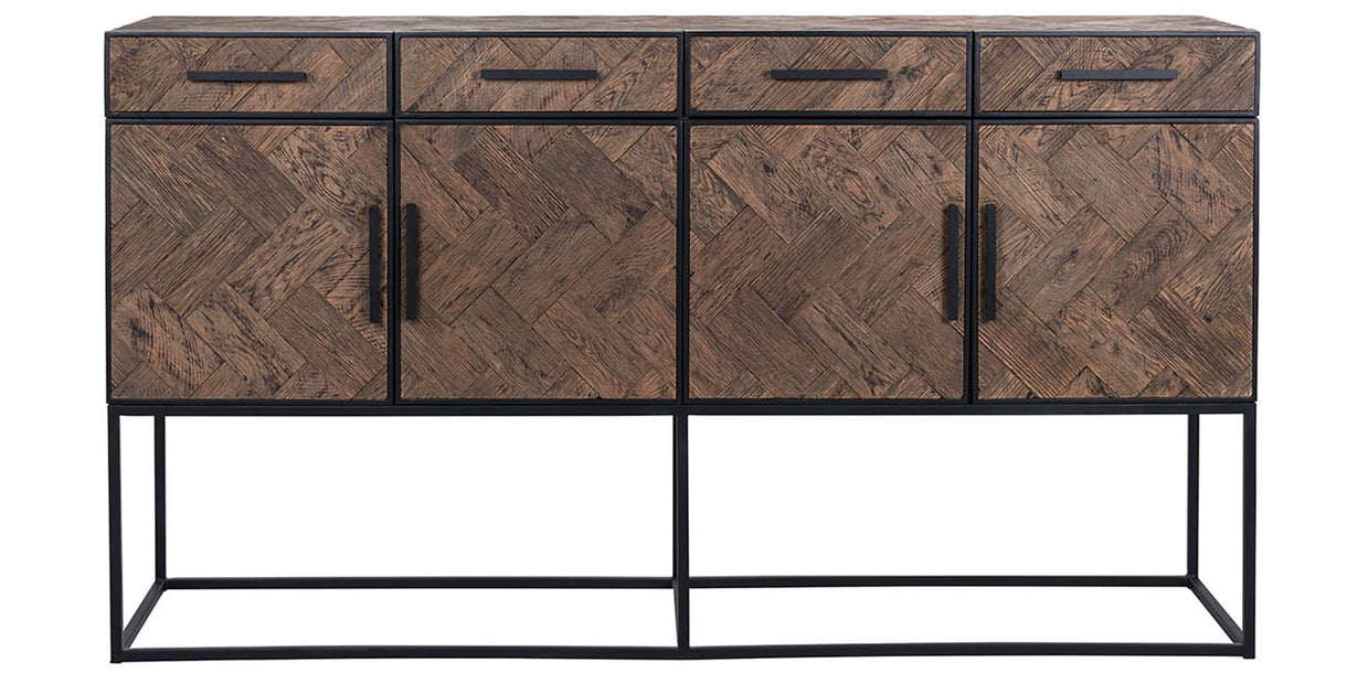 Kingsbridge Industrial Reclaimed Oak Sideboard with Drawers