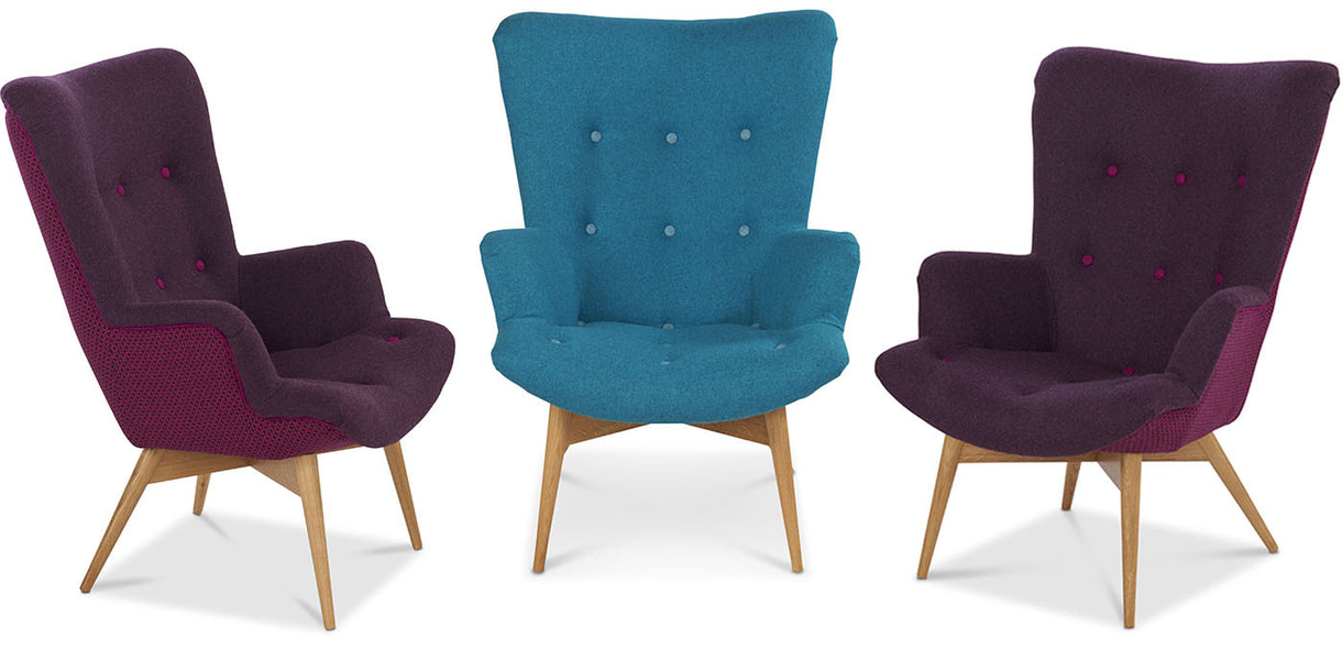 Kirk Moon Wool Armchairs