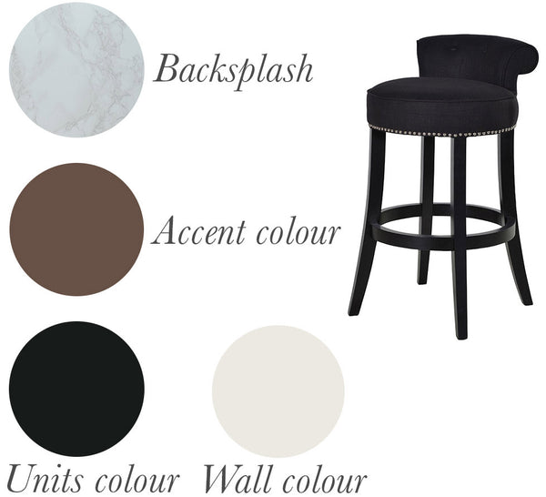 Black Kitchen Bar Stool