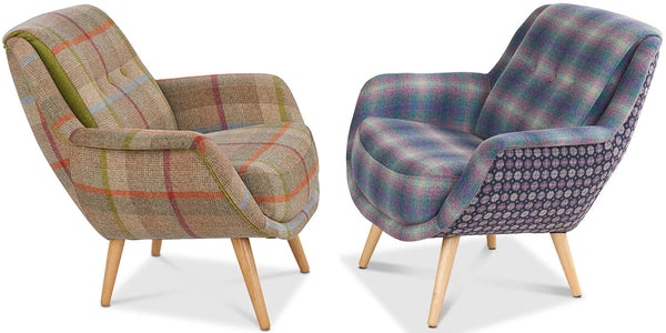 Kramer Moon Wool Armchairs