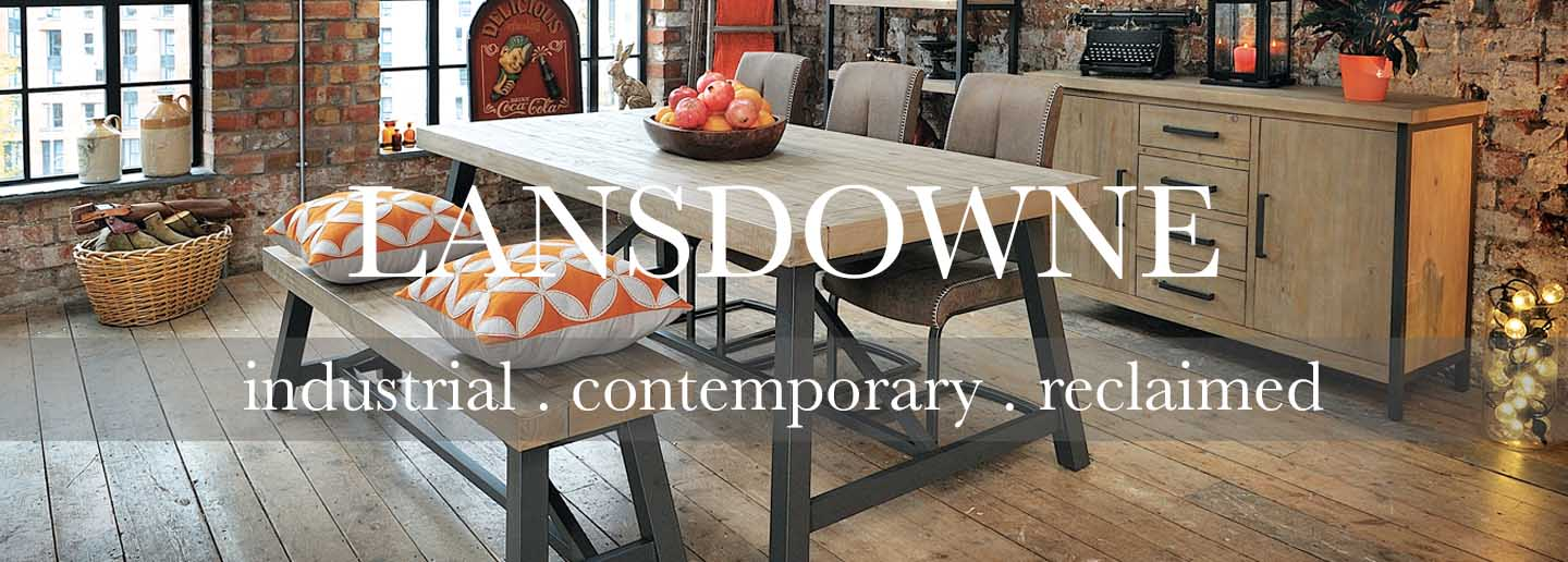 Industrial Lansdowne Dining Chairs and Table Collection