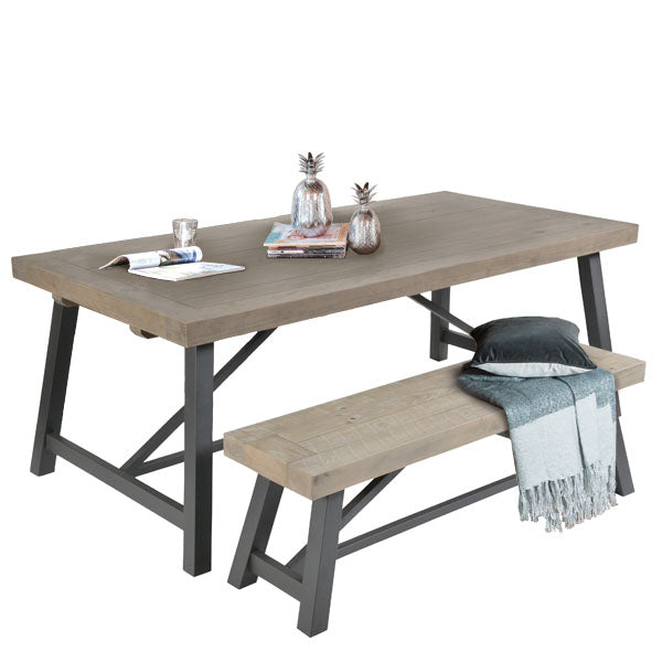 Lansdowne Industrial Reclaimed Wood Dining Table