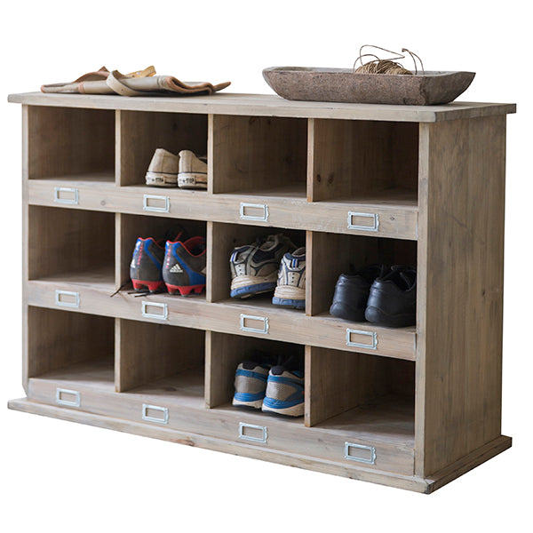 Large Chedworth Wooden Shoe Storage