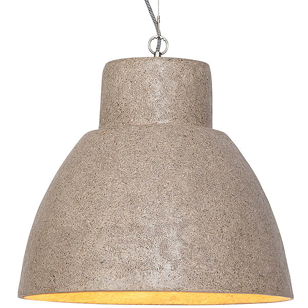 Large Woodchip Pendant Light