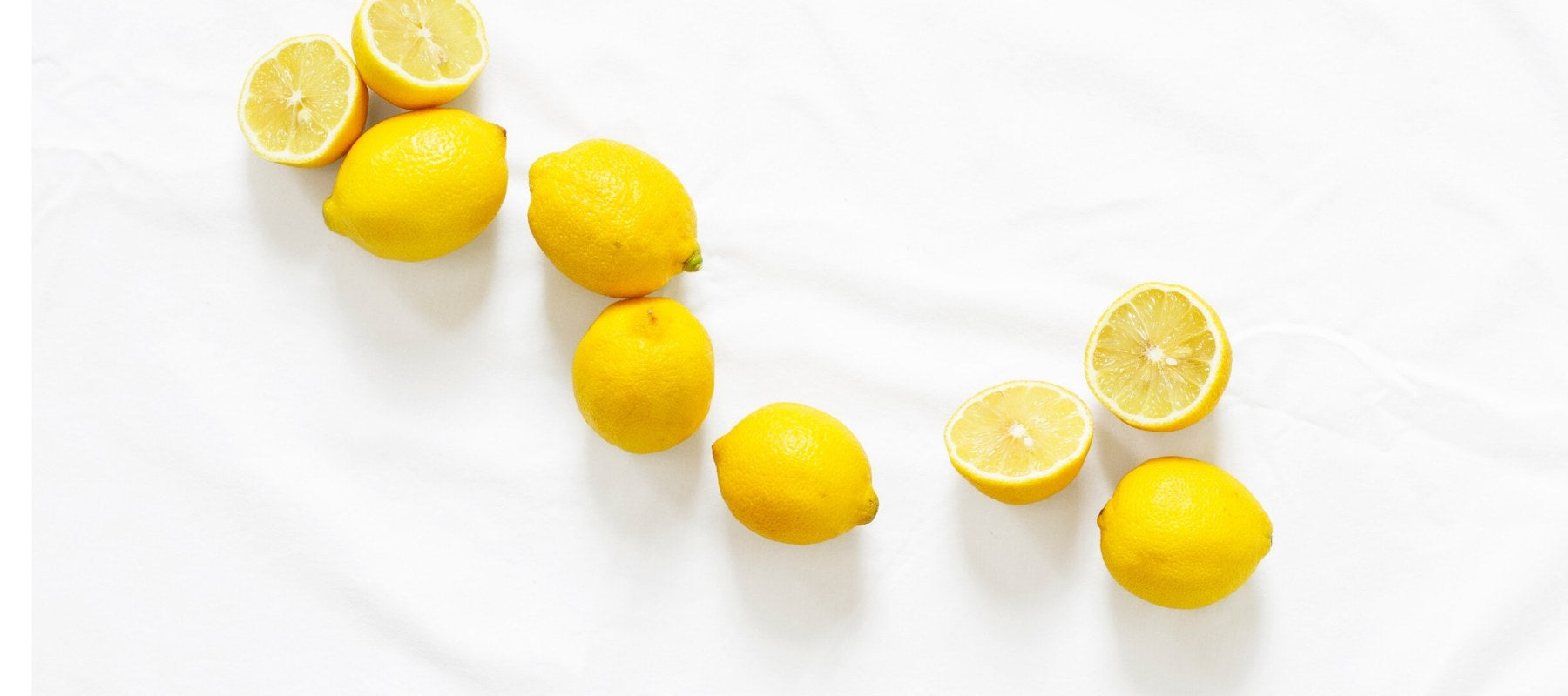 Group of lemons on a marble top
