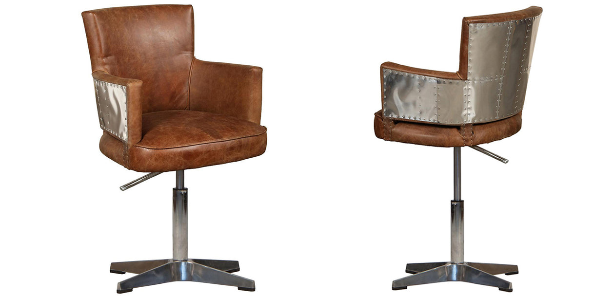 Aviator Lighting Leather Office Chair