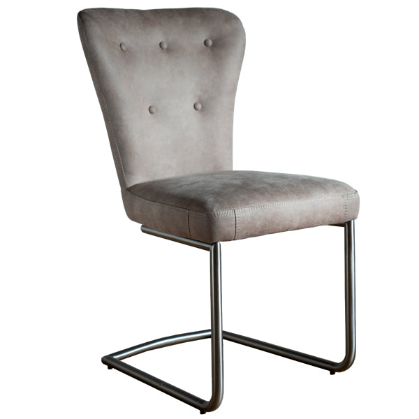 Lilian Industrial Faux Leather Dining Chair
