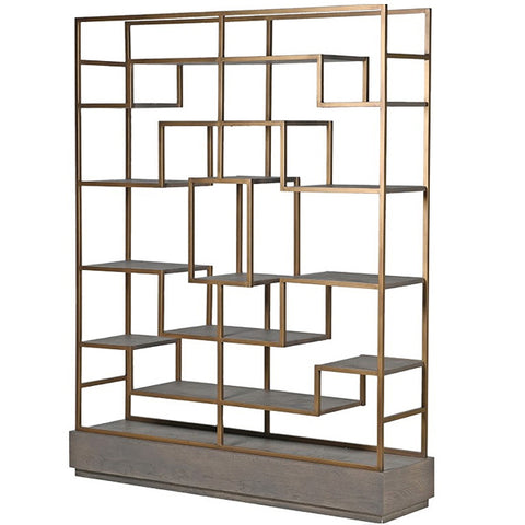 Livia Oak Display Unit