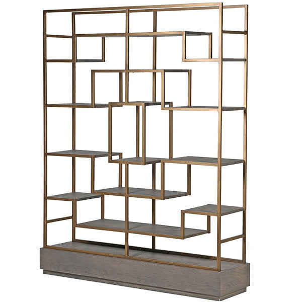 Pigeon hole luxe storage unit in gold