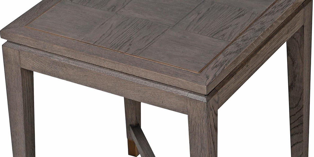 Detail of Livia Oak Square Side Table