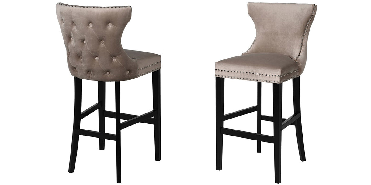 Longdon Velvet Bar Stools