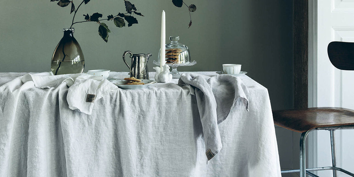 Lovely Linen Off White Tablecloth