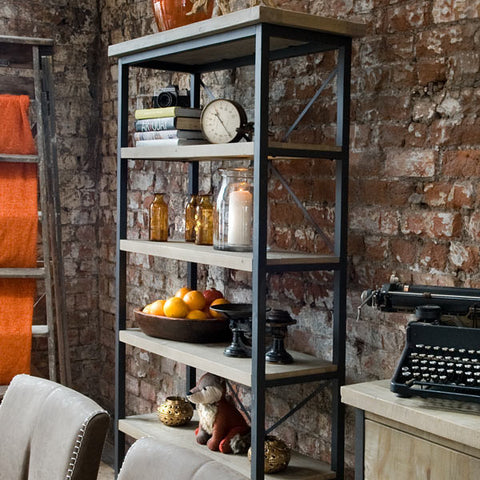 Industrial Lowry Reclaimed Wood Bookcase