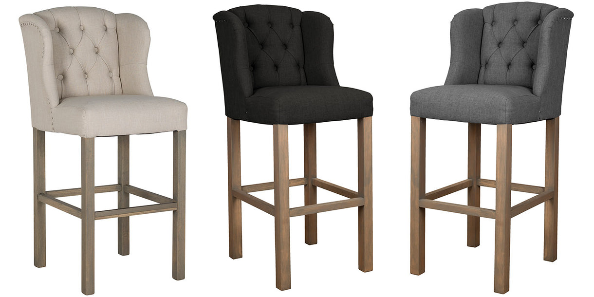 Luxe Daisy Upholstered Bar Stools