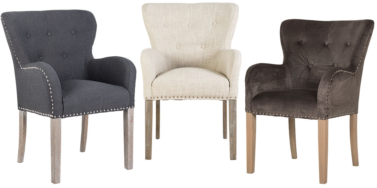 Luxe Ivy Upholstered Dining Chairs