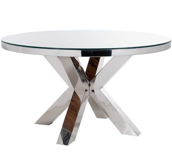 Luxe Kensington Reclaimed Wood Round Dining Table