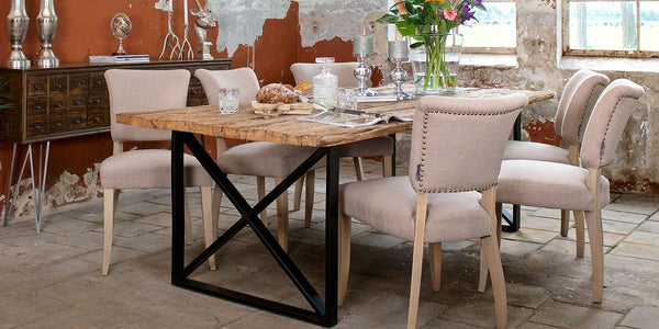 Luxe Kensington Industrial Reclaimed Wood Dining Table