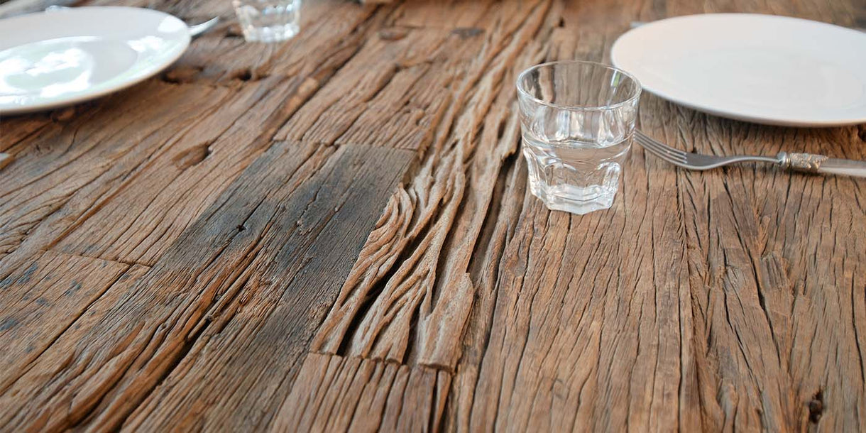 Railway Sleeper Reclaimed Wood Dining Table