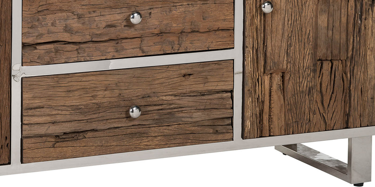 Luxe Kensington Reclaimed Wood Sideboard Close up