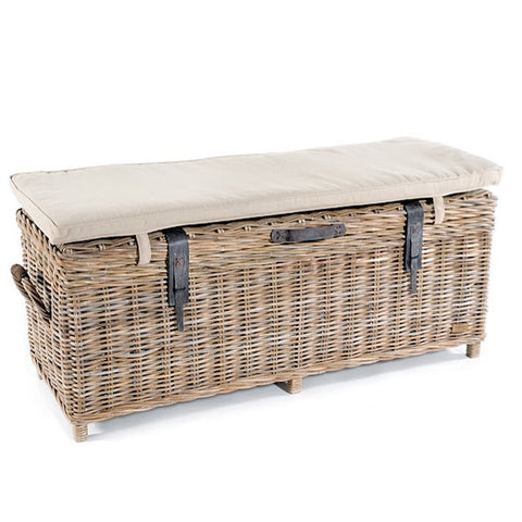Rattan May Wicker Storage Bench