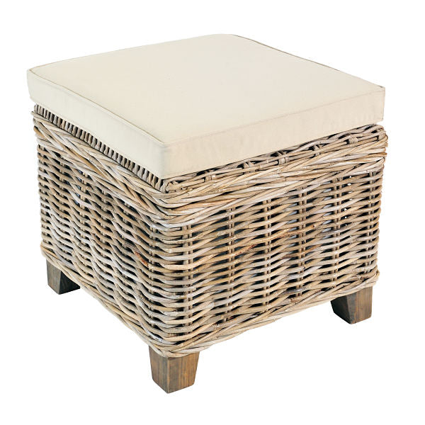 Rattan May Storage Stool with Cushion