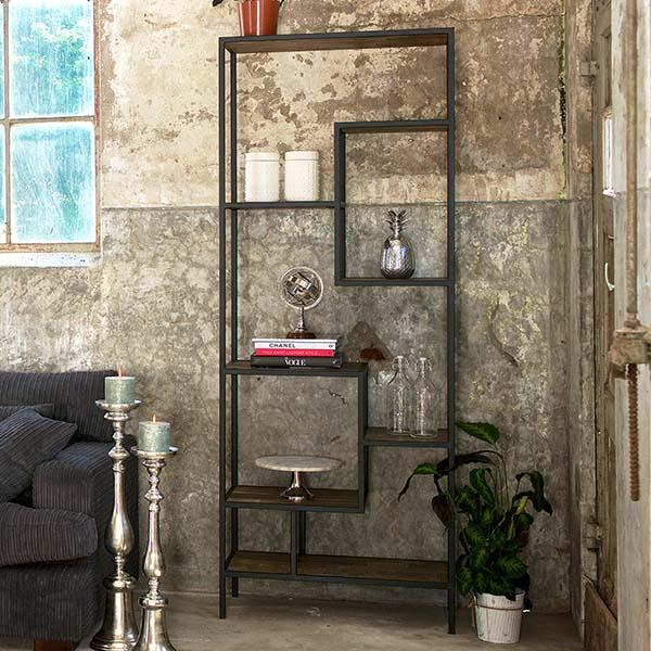 Maddox Industrial Reclaimed Elm Display Unit