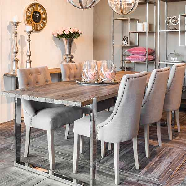 Maddox Industrial Reclaimed Elm Dining Table