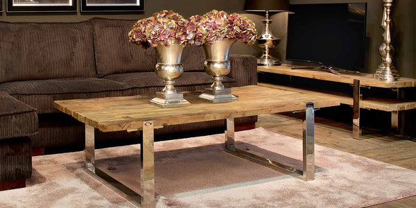 Maddox Industrial Reclaimed Elm Coffee Table