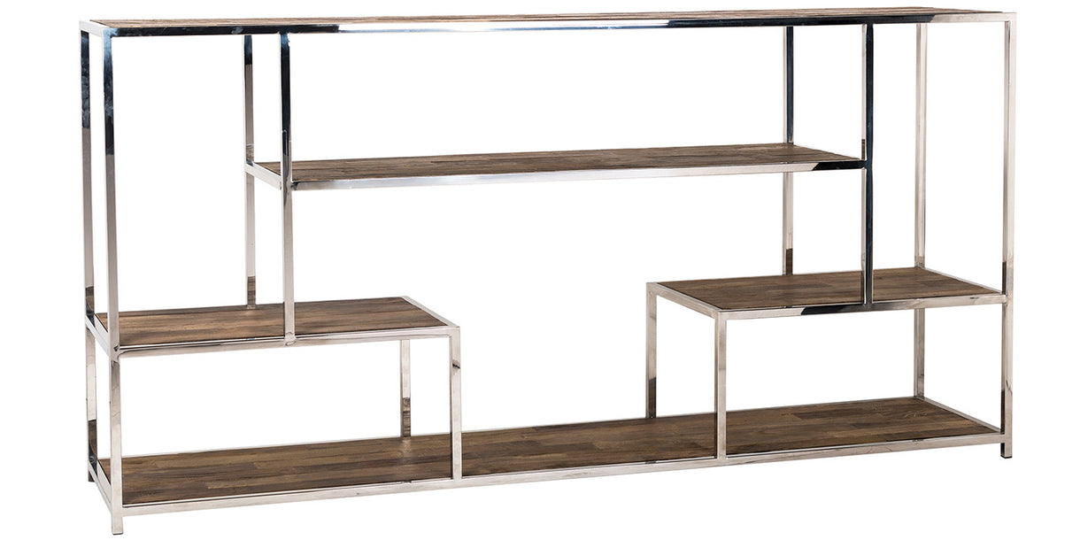 Maddox Reclaimed Elm Console Table with Shelves