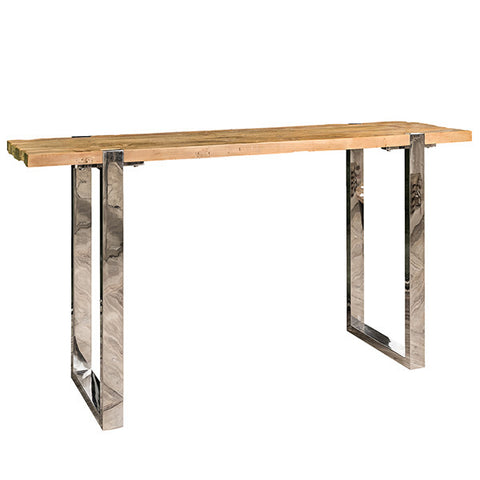 Maddox Reclaimed Elm Console Table front view