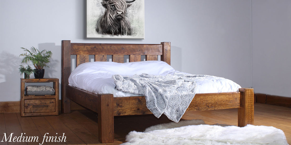 Beam Marlow Reclaimed Wood Bed Medium Finish
