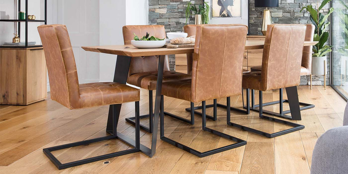 Marvin Industrial PU Leather Dining Chair