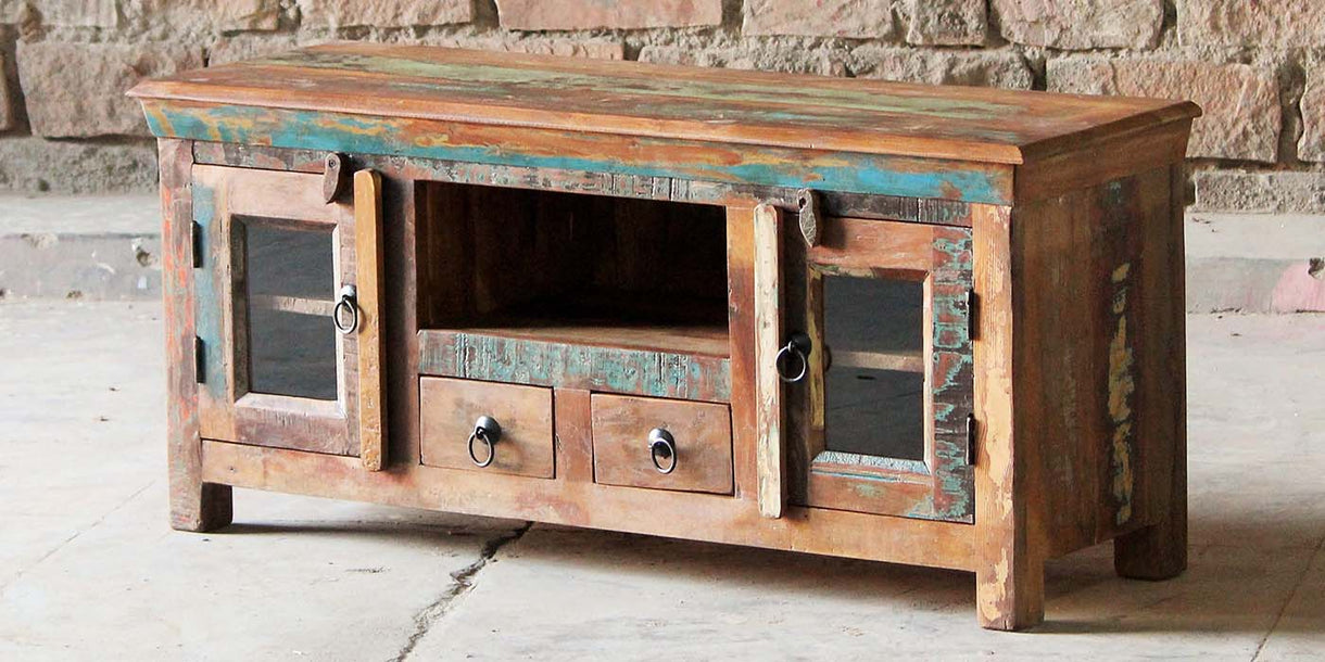 Mary Rose 2 Door Reclaimed Wood TV Cabinet