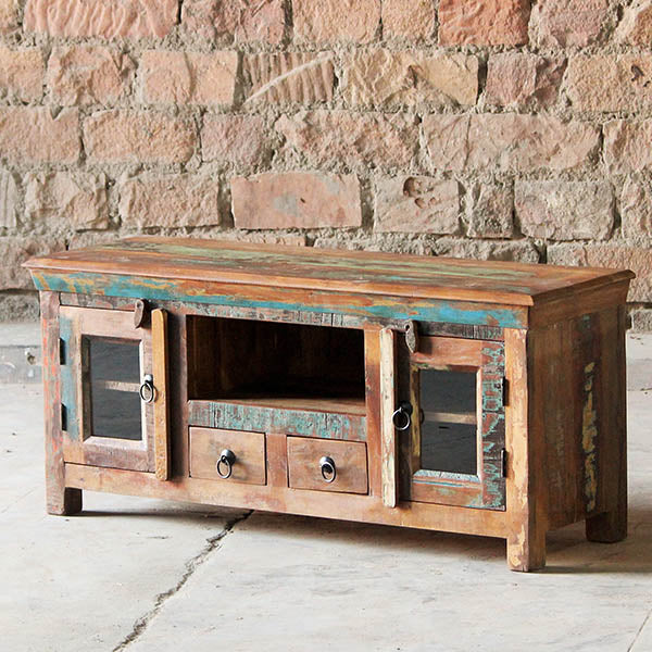 Mary Rose Two Door Grand Reclaimed Wood TV Cabinet