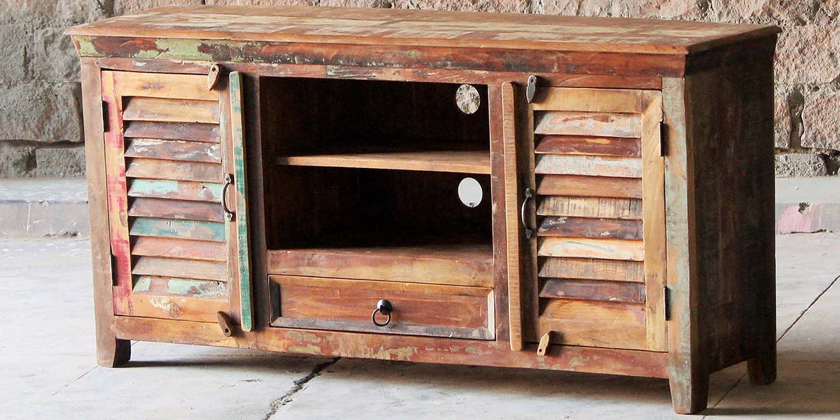 Mary Rose 1 Drawer 2 Door Reclaimed Wood TV Cabinet