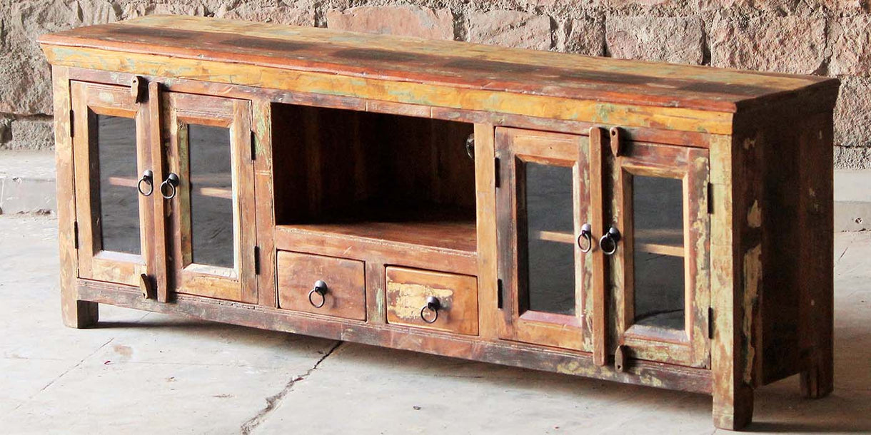 Mary Rose Grand Reclaimed Wood TV Cabinet