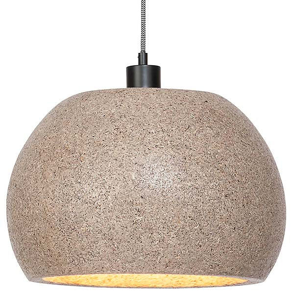 Mila Woodchip Round Pendant Light