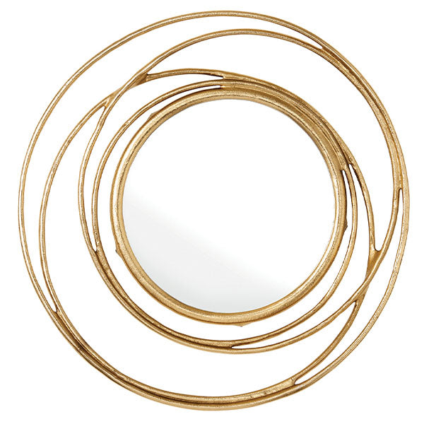 Minina Gold Round Wall Mirror