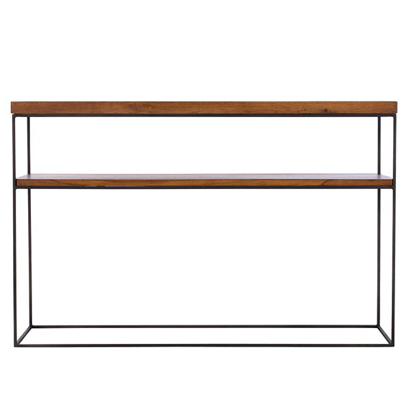 Mitcham Industrial Oak Console Table
